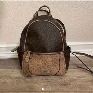 Guess Brown Leather Backpack
